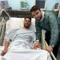 Lecce, Scavone lascia l'ospedale