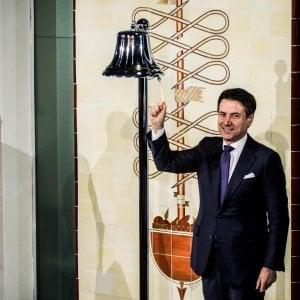 La visita del presidente del Consiglio Giuseppe Conte alla Borsa Italiana nei giorni scorsi