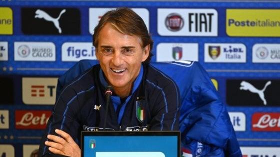 """Nazionale, Mancini: """"Ottimista per crescita giovani. Balotelli? Se segna un gol a partita..."""""""