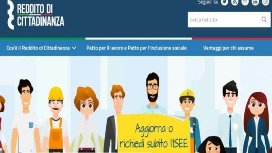 Reddito di cittadinanza, online il sito. Prime domande dal 6 al 31 marzo