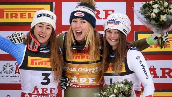 Sci, Mondiali di Are: Sofia Goggia argento nel superG, oro a Shiffrin