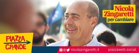 """Zingaretti, manifesto della campagna per le primarie senza logo Pd. È polemica. E lui: """"Così da mesi"""""""