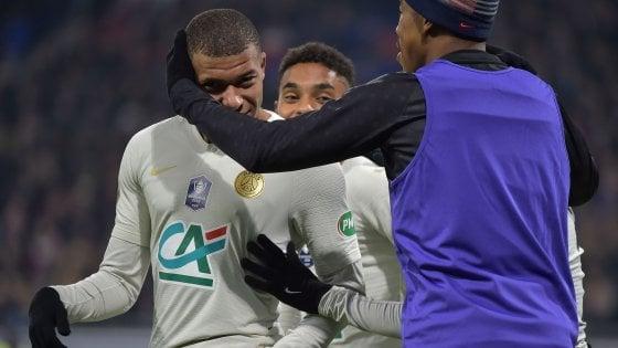 Coppa di Francia: che fatica il Psg, vince ai supplementari contro un club di terza serie