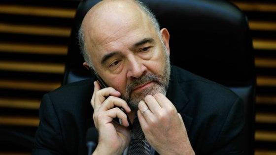 Il commissario agli affari economici Pierre Moscovici