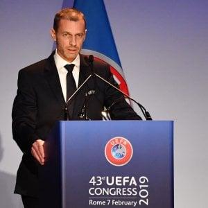 """Uefa, Ceferin rieletto presidente: """"Mai Superlega finché ci saremo io e Agnelli"""""""