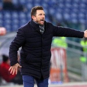 """Roma, Di Francesco: """"Non siamo al meglio ma stringiamo i denti"""""""