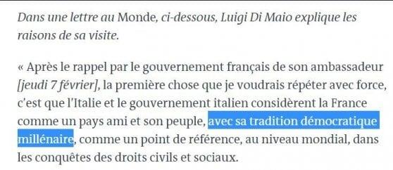 """Di Maio nella lettera a Le Monde: """"Francia democrazia millenaria"""". Ma la Rivoluzione risale a 230 anni fa"""
