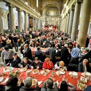 """Sant'Egidio, la grande festa per i 50 anni dell'associaione assieme agli """"amici dei poveri e della pace"""""""