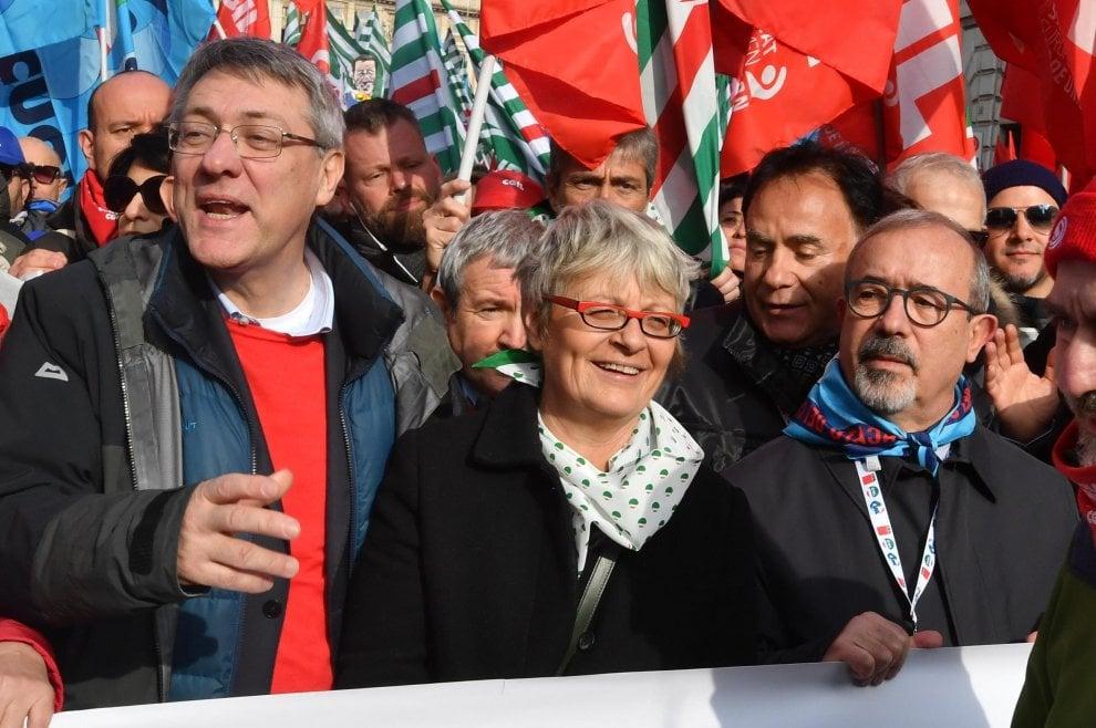 Roma, la manifestazione dei sindacati