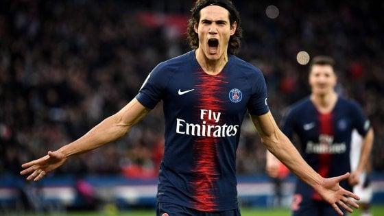 Ligue 1, Psg: Cavani stende il Bordeaux e poi si fa male
