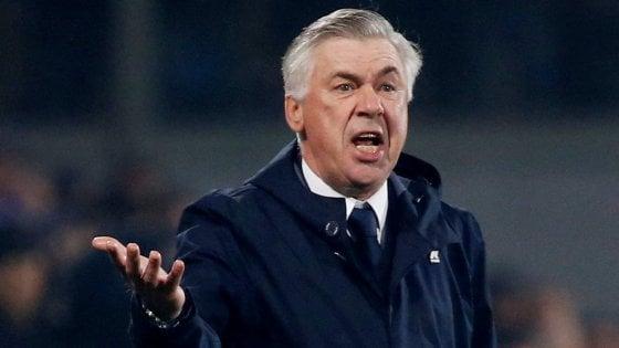 """Napoli, Ancelotti: """"Meritavamo la vittoria, è mancato il colpo finale"""""""