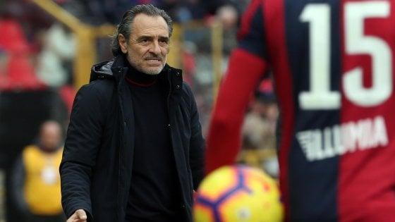 """Genoa, Prandelli: """"Punto importante contro un grande Bologna"""""""