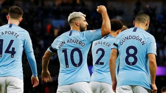 Premier League, Manchester City-Chelsea 6-0: Aguero show, Sarri non dà la mano a Guardiola
