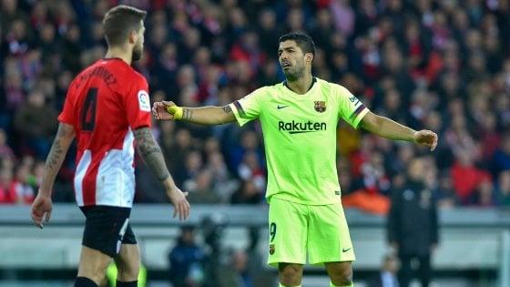 Spagna, il Barcellona bloccato sul pari a Bilbao: il Real risale a meno sei