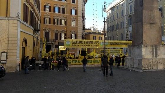 """Latte, la protesta dei pastori sardi arriva a Montecitorio. Salvini: """"Incontro giovedì"""""""