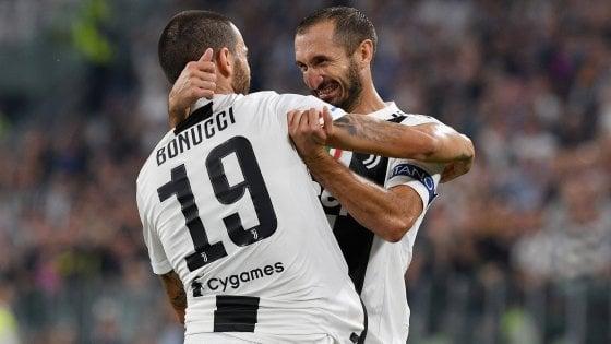 Juventus, Allegri sorride: Bonucci e Chiellini pronti al rientro