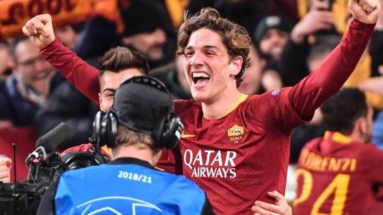 b988ebe47f Champions, Roma-Porto 2-1: doppietta di Zaniolo, Adrian Lopez tiene in  corsa i lusitani