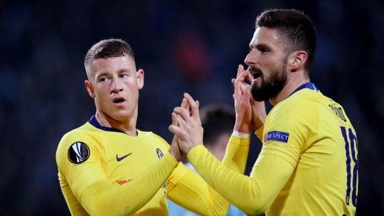 Europa League: Arsenal ko a Borisov, Sarri ritrova il sorriso. Brillano le spagnole
