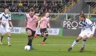 Serie B, Palermo Brescia 1-1: Tremolada risponde al 93' a Nestorovski e salva il primo posto dei lombardi