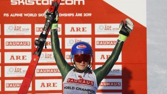 Sci, Mondiali Are: Mikaela Shiffrin da record, quarto titolo consecutivo in slalom