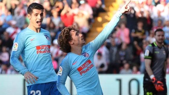 Liga, l'Atletico Madrid risponde alla Juve: Griezmann stende il Rayo Vallecano
