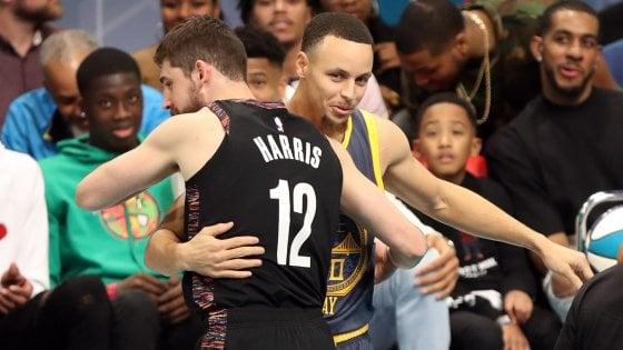Basket Nba, All Star Game: Harris meglio di Curry nel tiro da tre, Diallo schiaccia su Shaq
