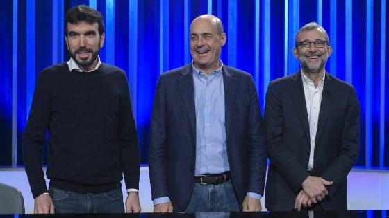 """Primarie Pd, Zingaretti: """"In caso di crisi, chiederò il voto anticipato"""". I candidati in tv divisi su passato e alleanze"""