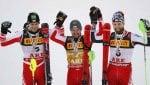 Hirscher si conferma re in slalom, è tripletta austriaca