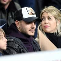 Inter-Sampdoria, Icardi e Wanda Nara in tribuna al Meazza