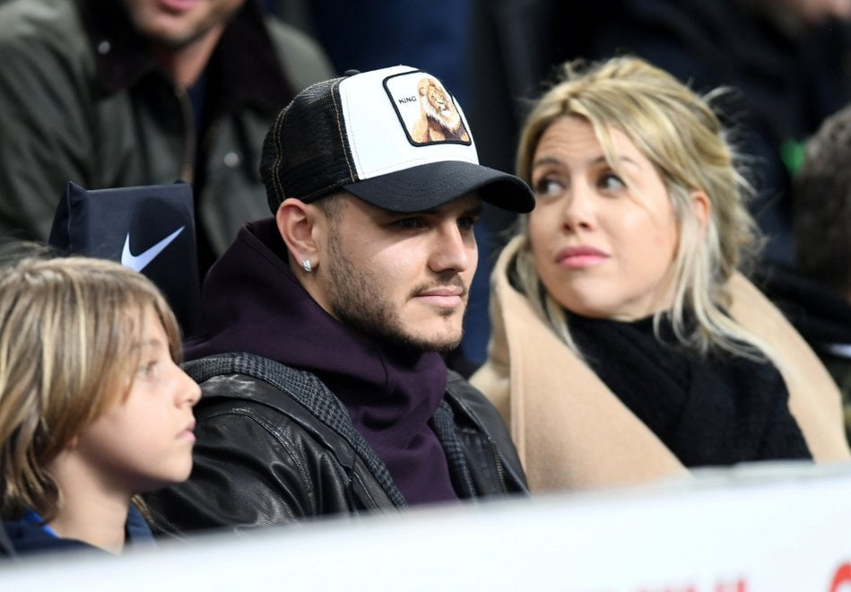 Inter-Sampdoria, Icardi e Wanda Nara in tribuna al Meazza
