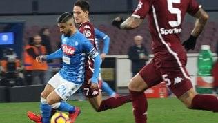 Stop Napoli, con il Toro è 0-0: Juventus a +13Icardi non c'è, l'Inter va2-1 con la Sampdoria