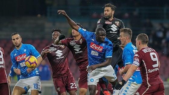 Napoli-Torino 0-0: azzurri ancora a secco, la Juve vola a +13