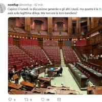 Legittima difesa, Sensi (Pd) posta la foto dell'aula della Camera deserta