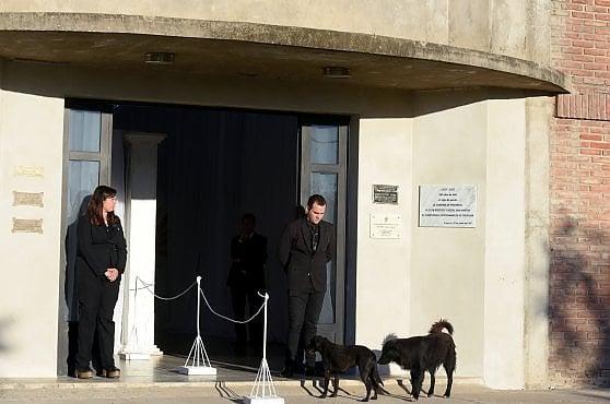 L'ultimo saluto a Emiliano Sala, il cane  Nala veglia davanti alla camera ardente