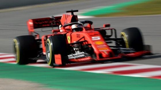 F1, test Montmelò: Ferrari ok, Vettel il più veloce dopo la prima giornata