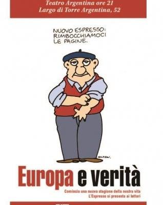 Nasce il Nuovo Espresso, domani al teatro Argentina di Roma la presentazione al pubblico