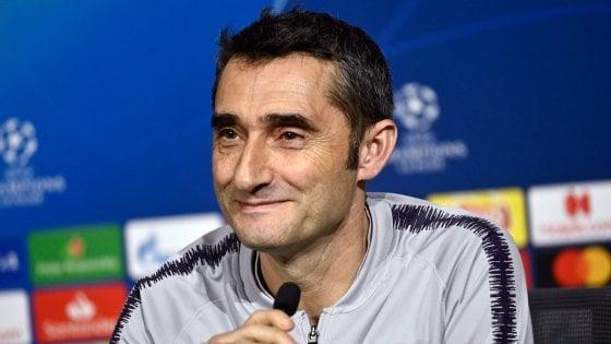 """Barcellona, Valverde: """"Attenzione al Lione, ricordiamoci della Roma"""""""