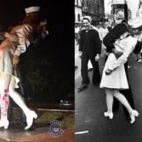 """""""Quel bacio non fu ricambiato"""". Il #MeToo colpisce la statua ispirata al bacio della..."""