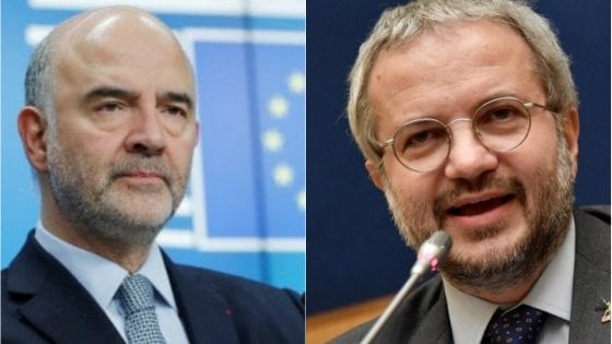 """Borghi (Lega): """"Il commissario europeo Moscovici mi segue su Twitter"""", ma lui smentisce"""