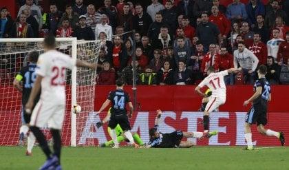 Lazio, altro ko: è eliminata Il Siviglia vince 2-0