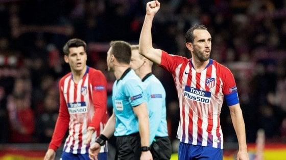 Champions League, Atletico Madrid-Juventus 2-0: Gimenez e Godin piegano i bianconeri