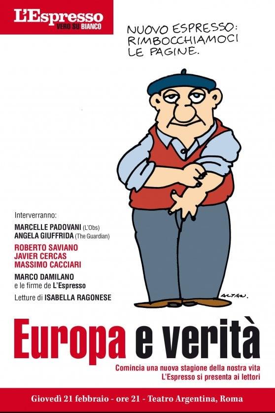 Nasce il Nuovo Espresso, giovedì al teatro Argentina di Roma la presentazione al pubblico