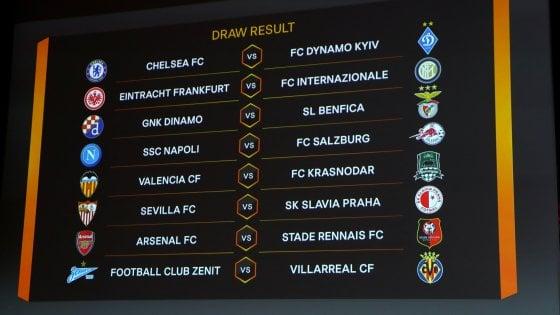 Europa League, sorteggio ottavi: l'Inter pesca l'Eintracht Francoforte, il Salisburgo per il Napoli