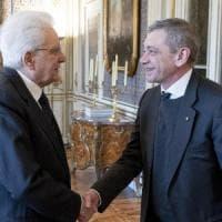 Il capo dello Stato Sergio Mattarella riceve il direttore di Repubblica Carlo Verdelli