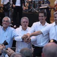 Venezuela, Guaidò (a sorpresa sul palco) vince la sfida dei concerti