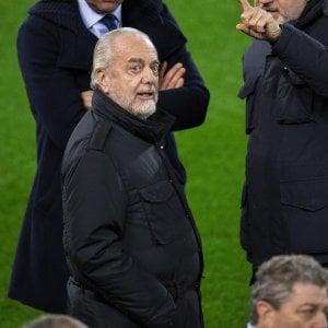 "Napoli, De Laurentiis promuove Ancelotti: ""E' da Oscar. Finale contro Sarri? Se resiste"""