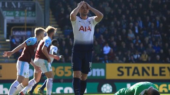 Premier League, Burnley-Tottenham 2-1: non basta il ritorno di Kane