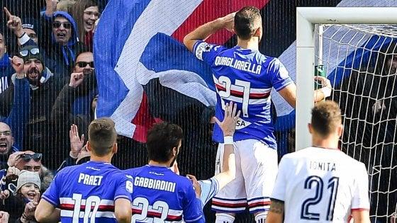 Sampdoria-Cagliari 1-0: Quagliarella riporta i blucerchiati alla vittoria