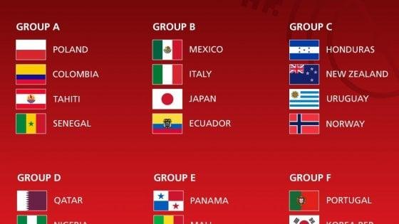 Calendario Qualificazioni Mondiali Italia.Mondiali Under 20 L Italia Nel Girone Con Messico Ecuador