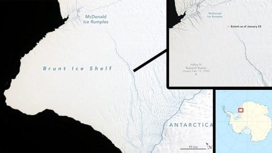"""""""Un iceberg grande due volte New York si sta staccando dall'Antartide"""""""